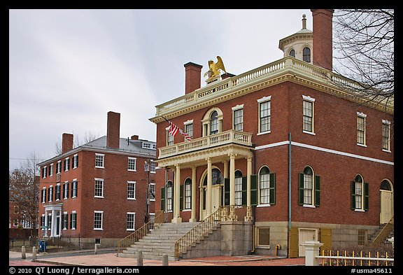 Custom House, 1819, Salem Maritime National Historic Site. Salem, Massachussets, USA (color)