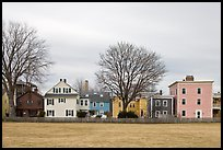 Row of pastel houses. Salem, Massachussets, USA ( color)