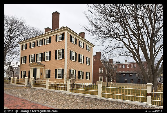 Hawkes House, Salem Maritime National Historic Site. Salem, Massachussets, USA (color)