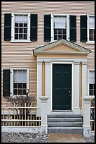 Entrance door, Hawkes House, Salem Maritime National Historic Site. Salem, Massachussets, USA (color)