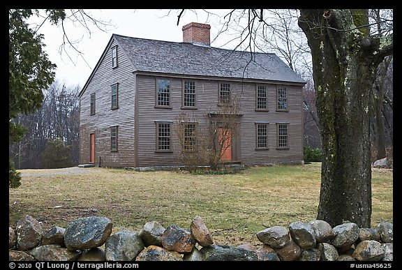Ebenezer Fiske House in winter, Minute Man National Historical Park. Massachussets, USA