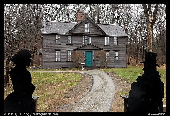 Louisa May Alcott Orchard House, Concord. Massachussets, USA (color)