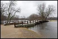 North Bridge over Concord River, Minute Man National Historical Park. Massachussets, USA (color)