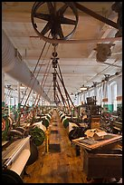 Northrop loom manufactured by Draper Corporation in the textile museum, Lowell National Historical Park. Massachussets, USA ( color)