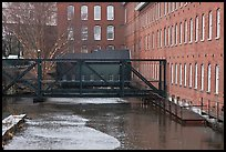 Eastern Canal and Boots Mills, Lowell National Historical Park. Massachussets, USA ( color)