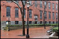 Market Mills buildings, Lowell National Historical Park. Massachussets, USA ( color)