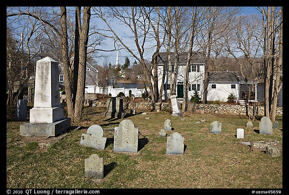 Cemetery, Sandwich. Cape Cod, Massachussets, USA (color)