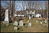 Cemetery, Sandwich. Cape Cod, Massachussets, USA ( color)