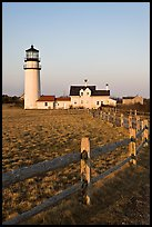 Cape Cod Light and fence, Cape Cod National Seashore. Cape Cod, Massachussets, USA (color)