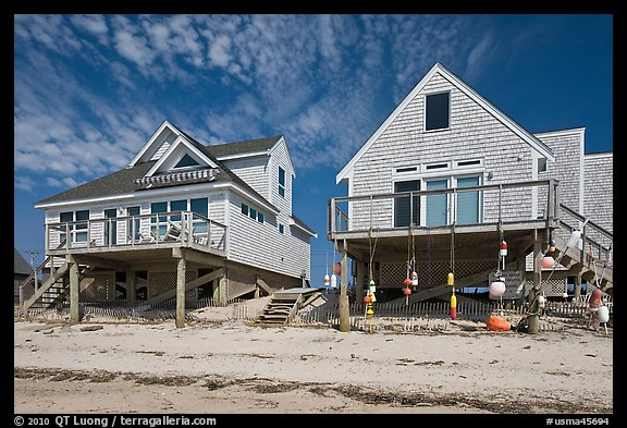 Beach houses, Truro. Cape Cod, Massachussets, USA