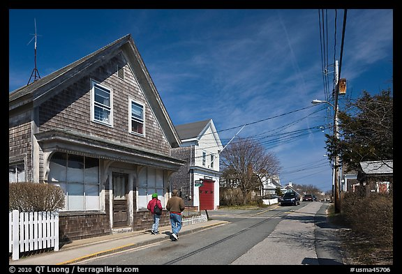 Residential Street, Provincetown. Cape Cod, Massachussets, USA (color)