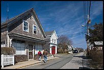 Residential Street, Provincetown. Cape Cod, Massachussets, USA ( color)