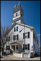 Former schoolhouse, Provincetown. Cape Cod, Massachussets, USA (color)