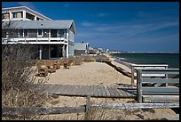 Beach houses, Provincetown. Cape Cod, Massachussets, USA (color)