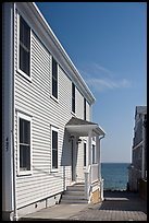 Waterfront houses, Provincetown. Cape Cod, Massachussets, USA (color)