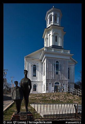 Former church reconverted into libary, Provincetown. Cape Cod, Massachussets, USA (color)