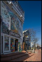 Storefront with quirky facade, Provincetown. Cape Cod, Massachussets, USA ( color)