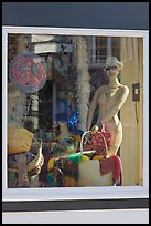 Window display and reflections, Provincetown. Cape Cod, Massachussets, USA ( color)