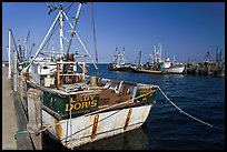 Commercial fishing boat, Provincetown. Cape Cod, Massachussets, USA (color)