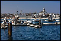 Harbor, beach, and town, Provincetown. Cape Cod, Massachussets, USA (color)