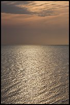 Shimmering water, Cape Cod Bay, Cape Cod National Seashore. Cape Cod, Massachussets, USA ( color)