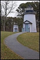 Path leading to historic lighthouses, Cape Cod National Seashore. Cape Cod, Massachussets, USA (color)