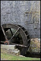 Waterwheel, Dexter Grist Mill, Sandwich. Cape Cod, Massachussets, USA ( color)