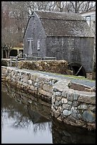 Dexter Grist Mill, Sandwich. Cape Cod, Massachussets, USA (color)
