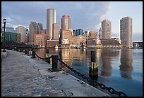 Harbor skyline. Boston, Massachussets, USA ( color)