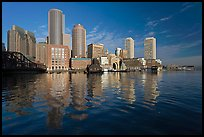 Rowes Wharf Skyline. Boston, Massachussets, USA (color)