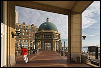 Ferry terminal, Rowes Wharf. Boston, Massachussets, USA ( color)