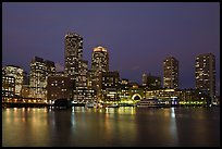 Boston skyline at dusk. Boston, Massachussets, USA ( color)