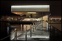 Museum of Contemporary Art (MOCA) at night. Boston, Massachussets, USA