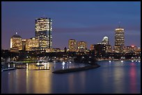 Back Bay skyline at night. Boston, Massachussets, USA ( color)