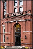 Peabody Museum entrance, Harvard University, Cambridge. Boston, Massachussets, USA ( color)
