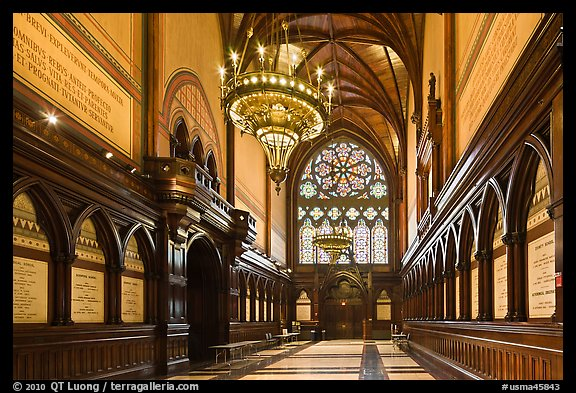 Memorial Transept, Memorial Hall, Harvard University, Cambridge. Boston, Massachussets, USA (color)