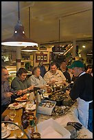 Patrons eating at Union Lobster House. Boston, Massachussets, USA (color)