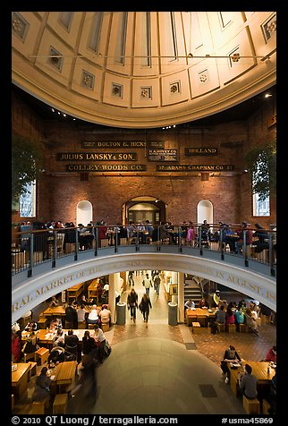 Inside historic Quincy Market. Boston, Massachussets, USA (color)