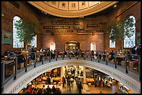 Quincy Market dome,  Faneuil Hall Marketplace. Boston, Massachussets, USA ( color)