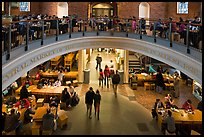 People dining, Quincy Market. Boston, Massachussets, USA (color)