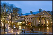 Faneuil Hall Marketplace at dusk. Boston, Massachussets, USA