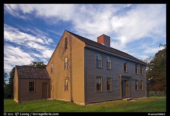 Historic Samuel Brooks House, Minute Man National Historical Park. Massachussets, USA