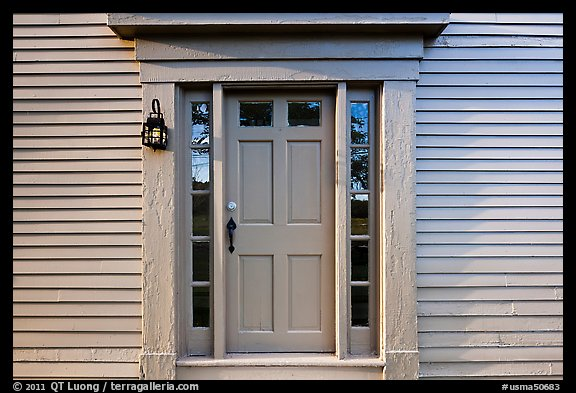 Door of Samuel Brooks House, Minute Man National Historical Park. Massachussets, USA