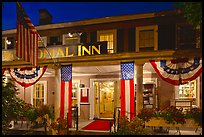 Colonial Inn restaurant at night, Concord. Massachussets, USA