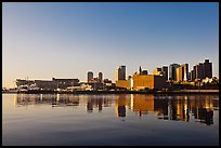 Boston Skyline across Charles River, sunrise. Boston, Massachussets, USA (color)