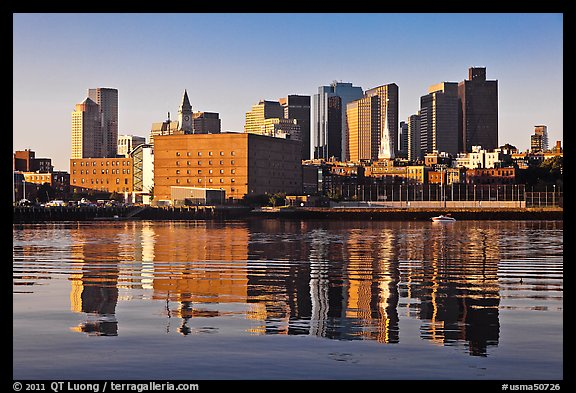 North End and Boston Skyline. Boston, Massachussets, USA (color)