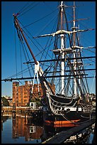 USS Constitution, Boston Historical Park. Boston, Massachussets, USA (color)