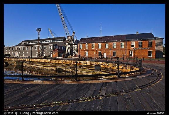 Charleston Navy Yard. Boston, Massachussets, USA (color)