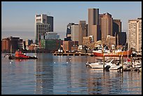 Boston harbor and skyline. Boston, Massachussets, USA ( color)