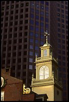 Old State House and glass buildings. Boston, Massachussets, USA